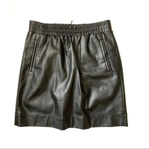 LOFT Faux Leather Skirt with Zipper (XS)